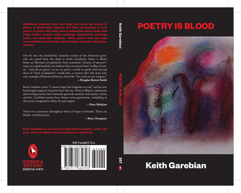 Poetry is Blood by Keith Garebian book cover