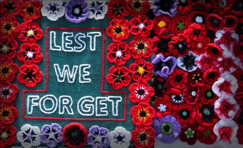 Remembrande Day hand made poppies, author reading, playwrights